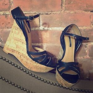 Black summer wedges